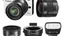 ขายกล้อง (IMPORTED) Canon EOS M2 White with 18-55mm IS + 11-22mm + 22mm + 90EX Flash +Adapter Kit ราคาถูก
