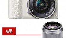 ขายกล้อง Sony a5100L Mirrorless Digital Camera - White (แถมฟรีเลนส์SEL50F18) ราคาถูก